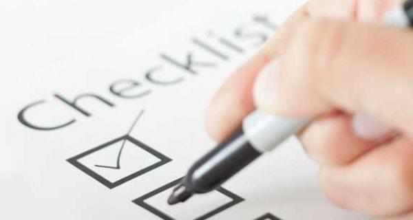 insurance checklist