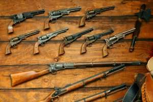 Collection of antique guns