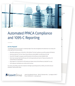 Automated PPACA Compliance and 1095-C Reporting