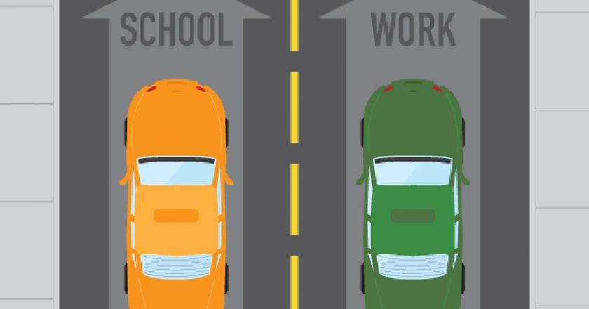school and work car